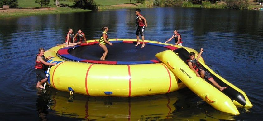 25 foot supertramp with bounce and slide